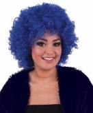 Kobaltblauwe afropruik