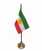 Koerdistan versiering tafelvlag 10 x 15 cm