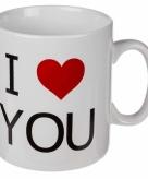 Koffie beker i love you 700 ml