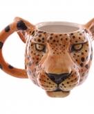 Koffie beker luipaard 400 ml