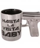 Koffiemok pistool hasta la vista baby