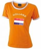 Koningsdag dames shirtje met de hollandse vlag