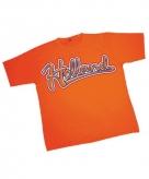 Koningsdag heren baseball t-shirt oranje