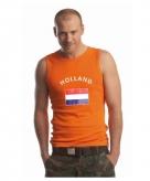 Koningsdag heren singlet met de hollandse vlag