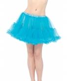 Korte tule onderrok turquoise voor dames