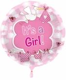 Kraamcadeau folie ballon meisje
