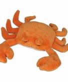 Krab knuffels oranje 27cm