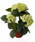 Kunst hortensia lichtgroen 36 cm
