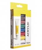 Kunstenaar verf set 8 kleuren