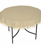 Kunststof tafelkleed rond beige 160 cm