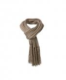 Lange licht bruine winter sjaal voor dames en heren 210 cm