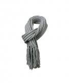 Lange licht grijze winter sjaal voor dames en heren 210 cm