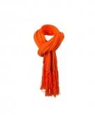 Lange oranje winter sjaal voor dames en heren 210 cm