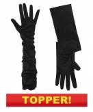 Lange zwarte gala handschoenen 10049638