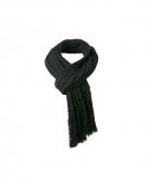 Lange zwarte winter sjaal voor dames en heren 210 cm