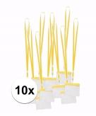 Lanyard keycord incl naamkaartjes houder geel 11 2 x 58 cm 10 x