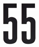 Leeftijd cijfer stickers 55 jaar