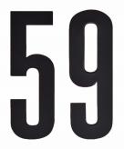 Leeftijd cijfer stickers 59 jaar