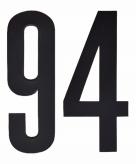 Leeftijd cijfer stickers 94 jaar