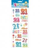 Leeftijd stickers 21 jaar