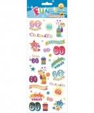Leeftijd stickers 60 jaar