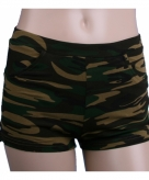 Legerprint hotpants voor dames