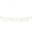 Let it snow kerst feest party banner letterslinger versiering karton 175 cm