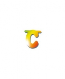 Letters van papier letter c