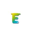 Letters van papier letter e