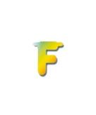 Letters van papier letter f