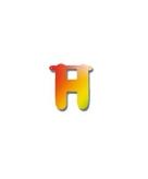 Letters van papier letter h