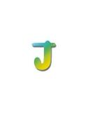 Letters van papier letter j