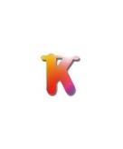 Letters van papier letter k