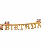 Letterslinger clown happy birthday 165 cm