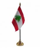 Libanon versiering tafelvlag 10 x 15 cm