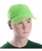 Lime groene kinder caps