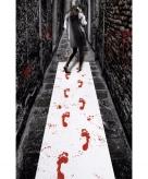 Loper met bloederige voetafdrukken 450 x 60 cm