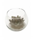 Lotus kaarsen in glas zilver 10 x 8 cm
