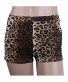 Luipaardprint hotpants voor dames