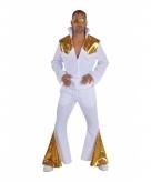 Luxe elvis kostuum wit goud