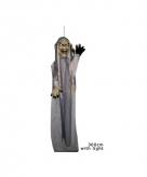 Luxe grijze horror pop met licht 360 cm