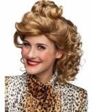 Luxe halflange damespruik blond