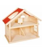 Luxe houten poppenhuis met 2 etages