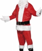 Luxe kerstmannen pak velours