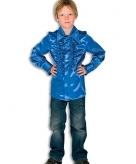 Luxe kobaltblauwe hippie blouse jongens