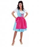 Luxe oktoberfest jurk blauw dames