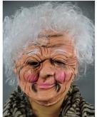 Luxe oma masker van latex