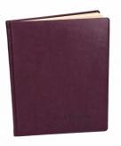 Luxe paars gastenboek 27 cm