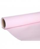 Luxe papieren tafelloper lichtroze kleur