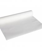 Luxe papieren tafelloper witte kleur
